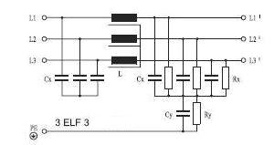 Трехфазный фильтр схема
